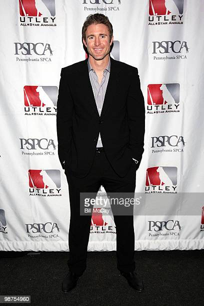 Philadelphia Phillies Chase Utley attends the 3rd Annual Utley AllStars Animal Casino Night at The Electric Factory April 29 2010 in Philadelphia...