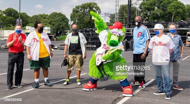 Philadelphia Phillies director of public affairs Scott Palmer, Cory Townes, DJ Jazzy Jeff, The Phillie Phanatic, comedian TuRae and Regional...