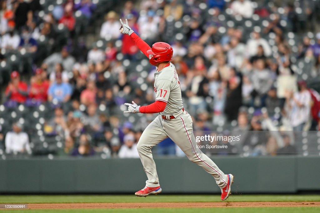 MLB: APR 24 Phillies at Rockies : Foto di attualità
