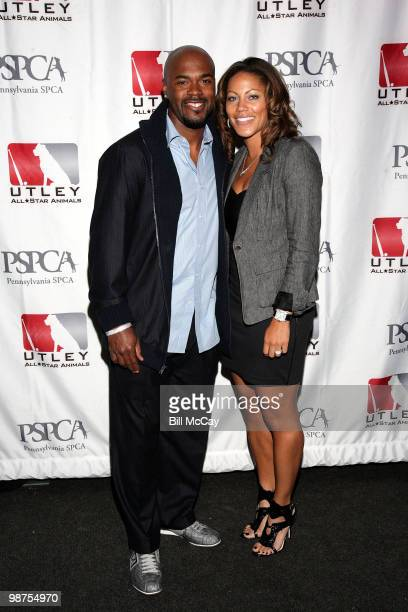 Philadelphia Phillies Jimmy Rollins and his wife Johari Rollins attend the 3rd Annual Utley AllStars Animal Casino Night at The Electric Factory...