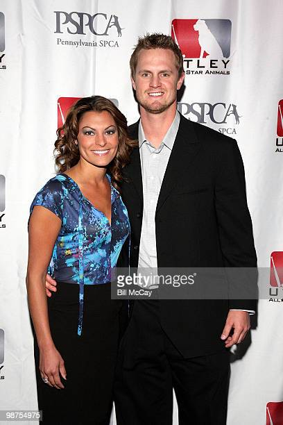 Philadelphia Phillies Kyle Kendrick and Stephenie LaGrossa attend the 3rd Annual Utley All-Stars Animal Casino Night at The Electric Factory April...