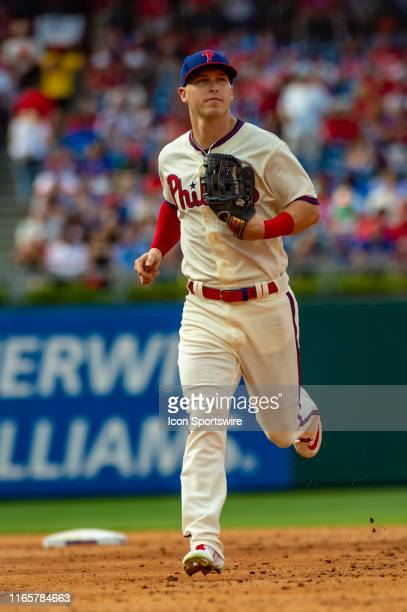 Philadelphia Phillies left fielder Corey Dickerson during the Major League Baseball game between the New York Mets and Philadelphia Phillies on...