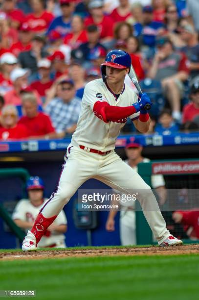 Philadelphia Phillies left fielder Corey Dickerson in action during the Major League Baseball game between the New York Mets and Philadelphia...