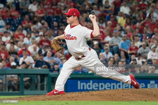 Philadelphia Phillies Pitcher Aaron Loup delivers a pitch during the seventh inning of a MLB game between the Boston Red Sox and the Philadelphia...