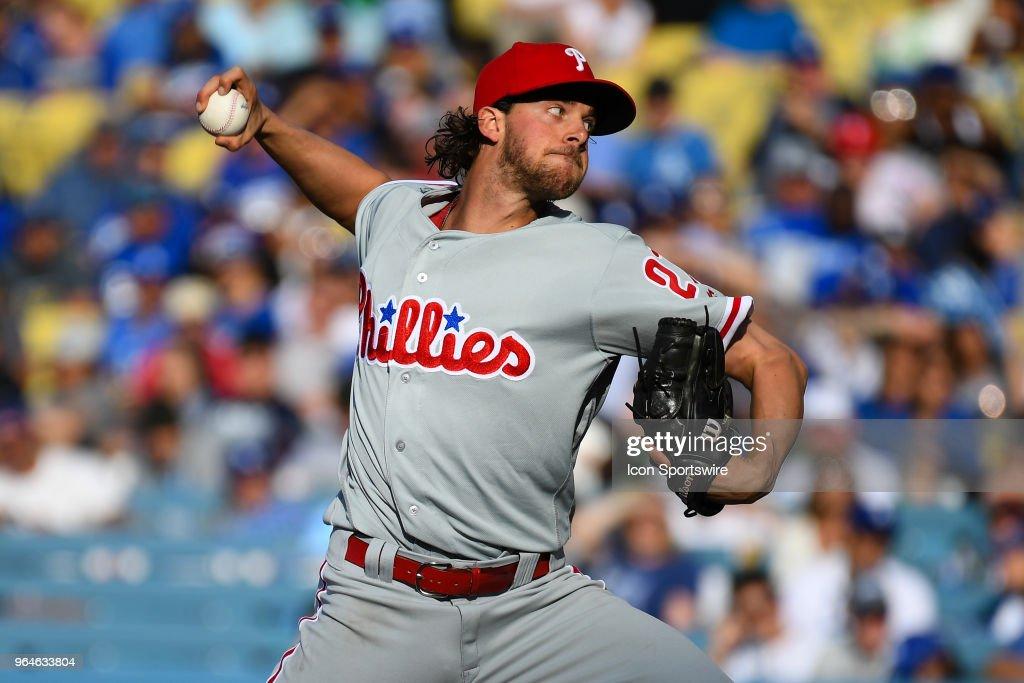 MLB: MAY 31 Phillies at Dodgers : News Photo