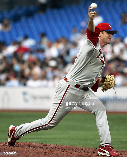 Philadelphia Phillies pitcher Adam Bernero made his major league debut against the Toronto Blue Jays at Rogers Centre in Toronto Canada on June 30...