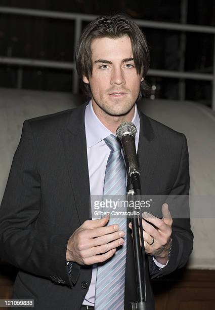 Philadelphia Phillies' pitcher Cole Hamels attends the Hamels Foundation fundraiser at Moshulu Penn's Landing on November 12 2009 in Philadelphia...