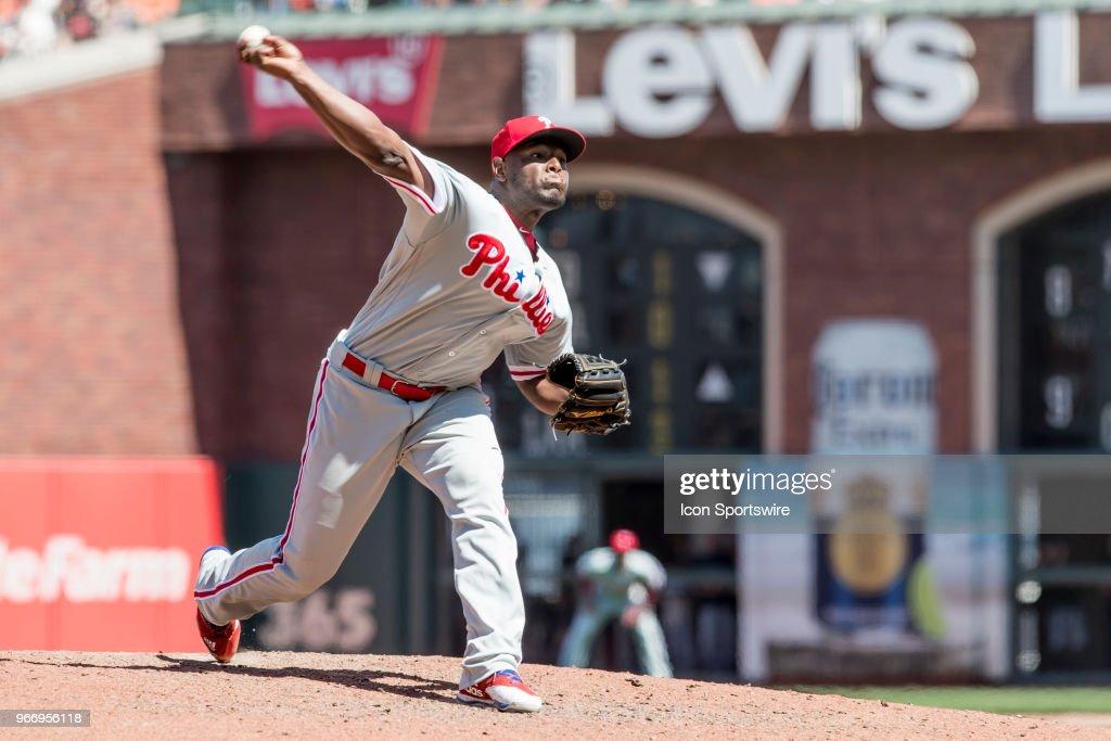 MLB: JUN 03 Phillies at Giants : News Photo