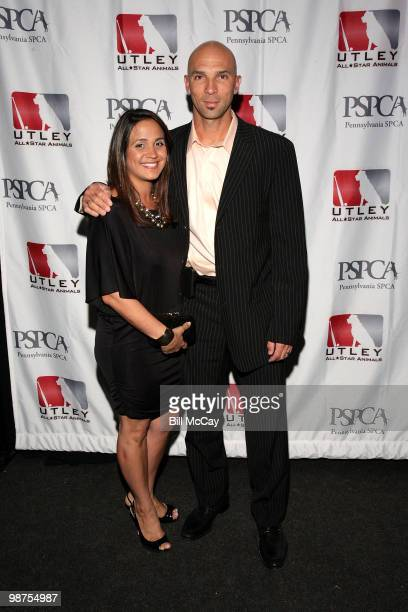 Philadelphia Phillies Raul Ibanez and his wife Teri Ibanez attend the 3rd Annual Utley AllStars Animal Casino Night at The Electric Factory April 29...