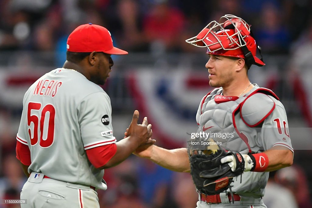 MLB: JUL 02 Phillies at Braves : News Photo