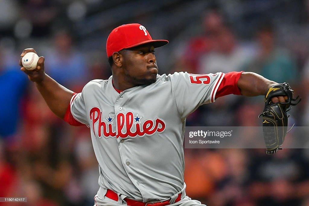 MLB: JUN 14 Phillies at Braves : News Photo