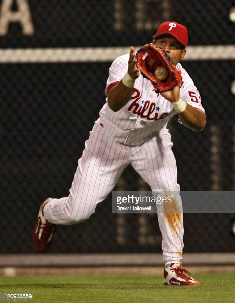 Philadelphia Phillies right fielder Bobby Abreu in action Wednesday May 3 2006 at Citizens Bank Park in Philadelphia PA The Philadelphia Phillies...