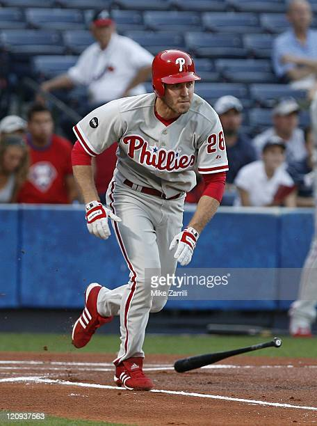 Philadelphia Phillies second baseman Chase Utley during the game between the Atlanta Braves and the Philadelphia Phillies at Turner Field in Atlanta...