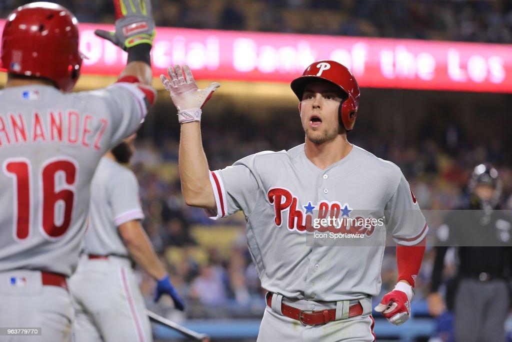 MLB: MAY 29 Phillies at Dodgers : News Photo