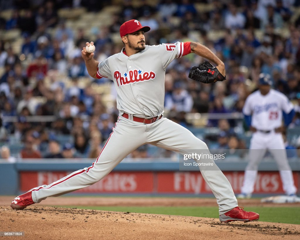 MLB: MAY 30 Phillies at Dodgers : Fotografia de notícias
