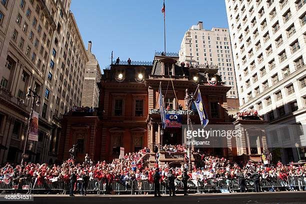 philadelphia phillies world series parade - avenue stock pictures, royalty-free photos & images
