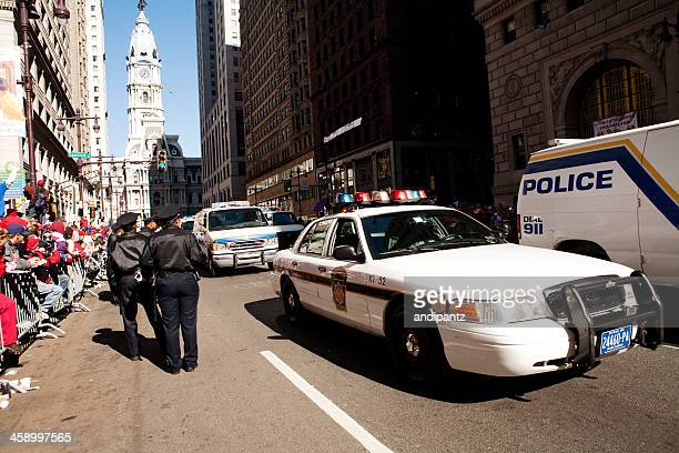 philadelphia phillies world series parade - philadelphia police car stock pictures, royalty-free photos & images