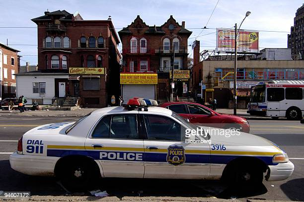 Philadelphia police patrol car sits parked in North Philadelphia Pennsylvania on Thursday May 3 2007 Philadelphia whose name means city of brotherly...