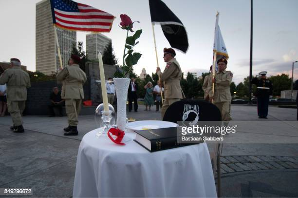 philadelphia pow/mia memorial ceremony - prisoner of war stock pictures, royalty-free photos & images