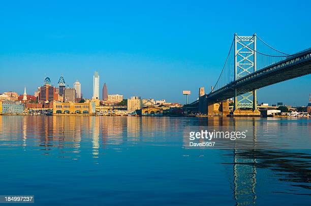 Philadelphia skyline and Ben Franklin Bridge