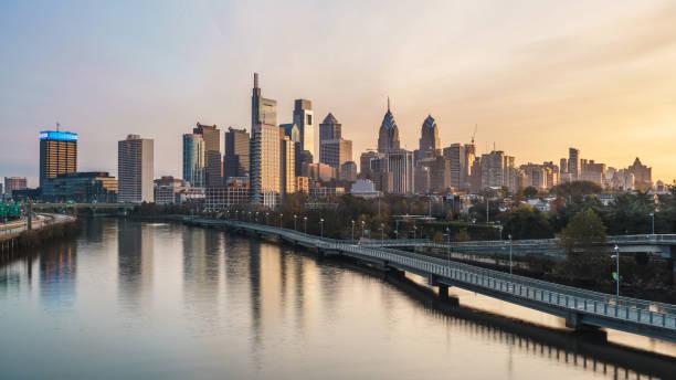 Philadelphia Skyline Dawn - Fine Art prints