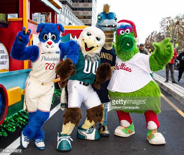 Philadelphia sports teams mascots Philadelphia 76ers Franklin the Dog Philadelphia Eagles Swoop Philadelphia Union Phang and Philadelphia Phillies...