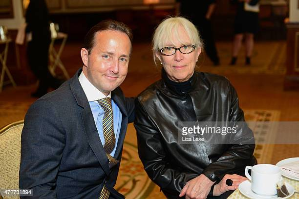 Philadelphia Style Magazine Publisher John Colabelli and Ann Gitter attend afternoon tea to celebrate women of influence at The Grand Ballroom At The...
