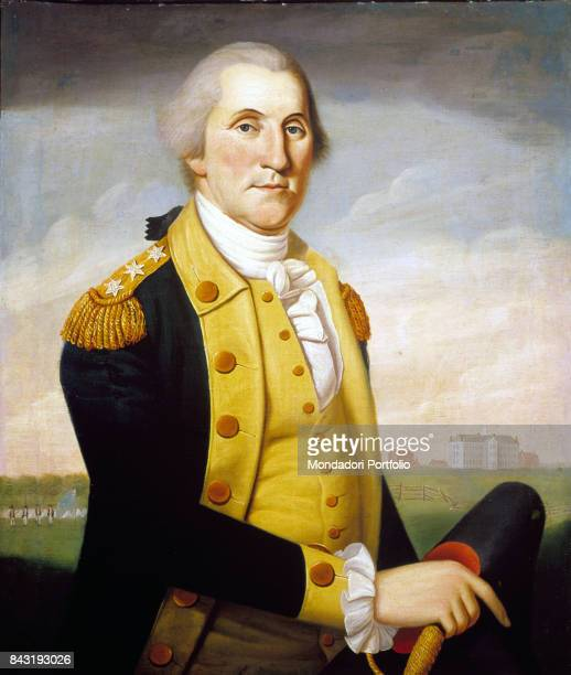 USA Philadelphia The Historical Society of Pennsylvania Whole artwork view Portrait of the first American President George Washington in uniform In...