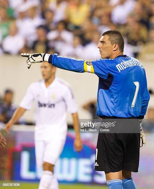 Philadelphia Union Captain and Goalkeeper Faryd Mondragon during the Friendly Match against Philadelphia Union as part of the Herbalife World...