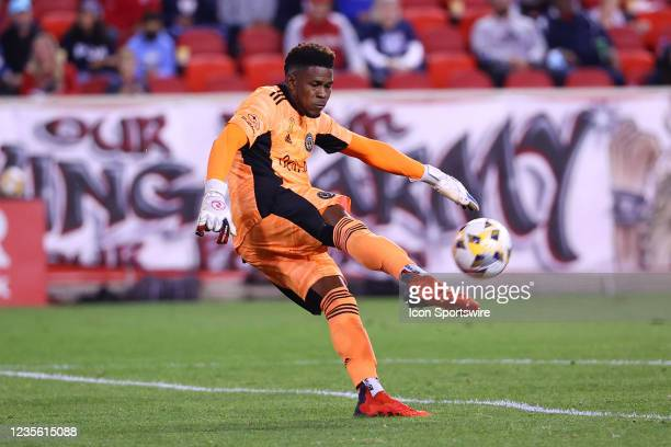 Philadelphia Union goalkeeper Andre Blake during the second half of the Major League Soccer game between the New York Red Bulls and the Philadelphia...