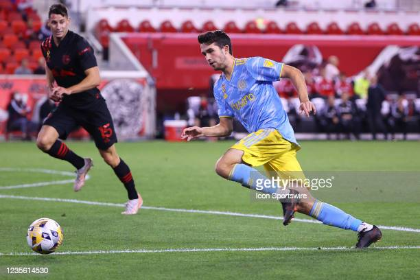 Philadelphia Union midfielder Leon Flach during the second half of the Major League Soccer game between the New York Red Bulls and the Philadelphia...
