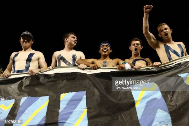 Philadelphia Union supporters cheer during the semifinal second leg match between Philadelphia Union and Club America during the CONCACAF Champions...