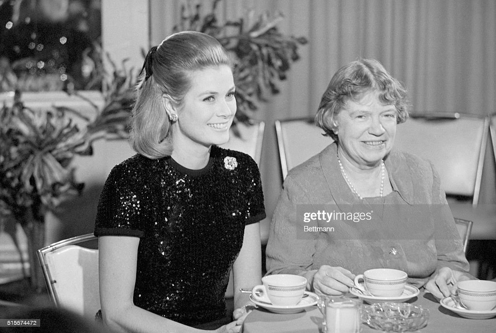 Princess Grace And Margaret Mead : News Photo