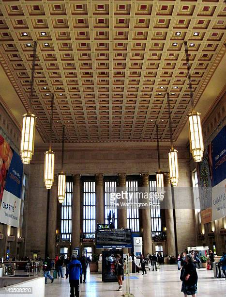 PHILADELPHIA PA APRIL 3 Philadelphia's 30th Street Station is one of the city's main transportation hubs It's served by Amtrak SEPTA and Megabus...