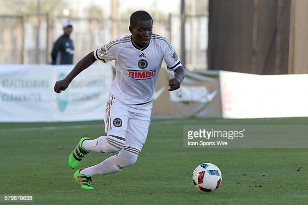 Philadelphia's Maurice Edu controls the ball during the pre-season MLS match between the D. C. United and the Philadelphia Union at Al Lang Stadium...