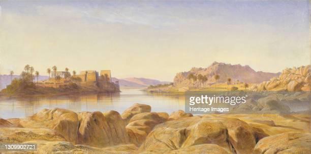 Philae, Egypt, 1863. Artist Edward Lear. .