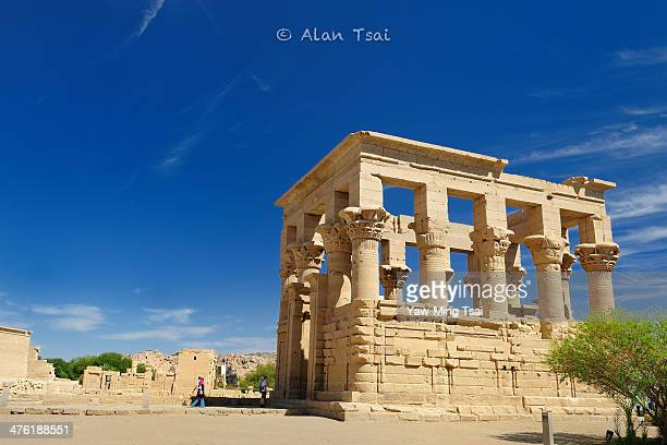 Philae Temple @ Aswan, Egypt The Ancient Egyptians built a beautiful and magnificent Temple on Philae Island for the Goddess Isis, but the Temple...