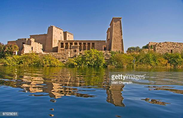 philae temple - aswan stock pictures, royalty-free photos & images