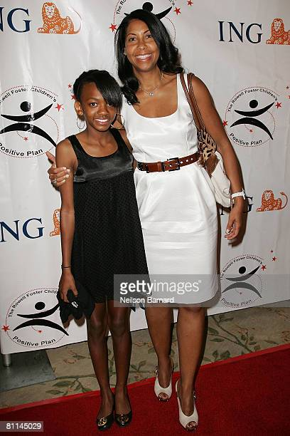 Philanthopist Cookie Johnson and daughter Elisa attend the Victoria Rowell Steps Out For High Tea At Noon event at the Beverly Hills Hotel on May 18...