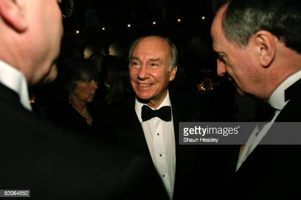 Philanthropist Aga Khan greets invited guests after receiving the 2005 Vincent Scully Prize at the National Building Museum January 25 2005 in...