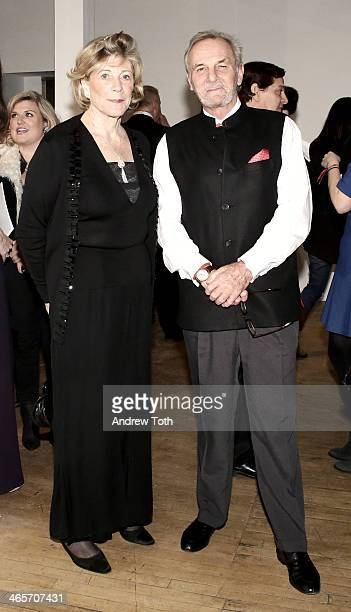 Philanthropist Agnes Gund and writer Mark Shand attend Faberge Big Egg Hunt Cocktail Countdown event on January 28 2014 in New York United States