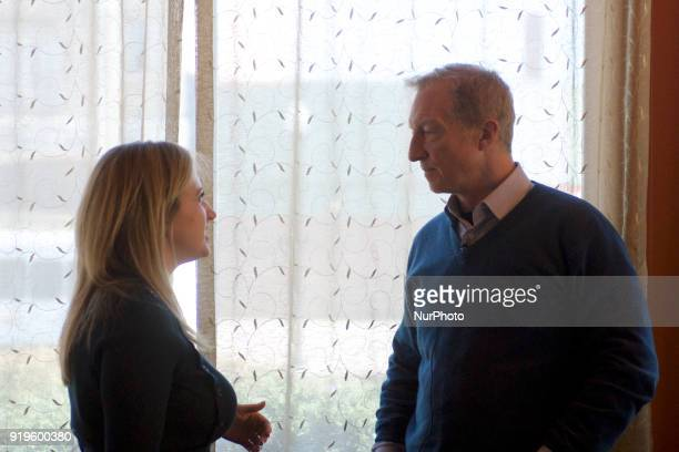 Philanthropist and activist Tom Steyer talks about his Impeach Trump campaign in Philadelphia PA on February 17 2018 Tom Steyer runs NextGen America...
