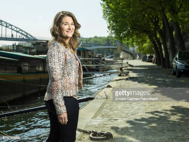 Philanthropist and cofounder of the Bill Melinda Gates Foundation Melinda Gates is photographed for Paris Match on April 21 2017 in Paris France