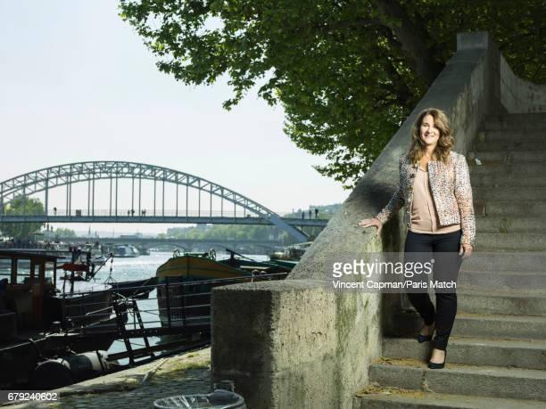 Philanthropist and cofounder of the Bill Melinda Gates Foundation Melinda Gates is photographed for Paris Match on April 21 2017 in Paris France