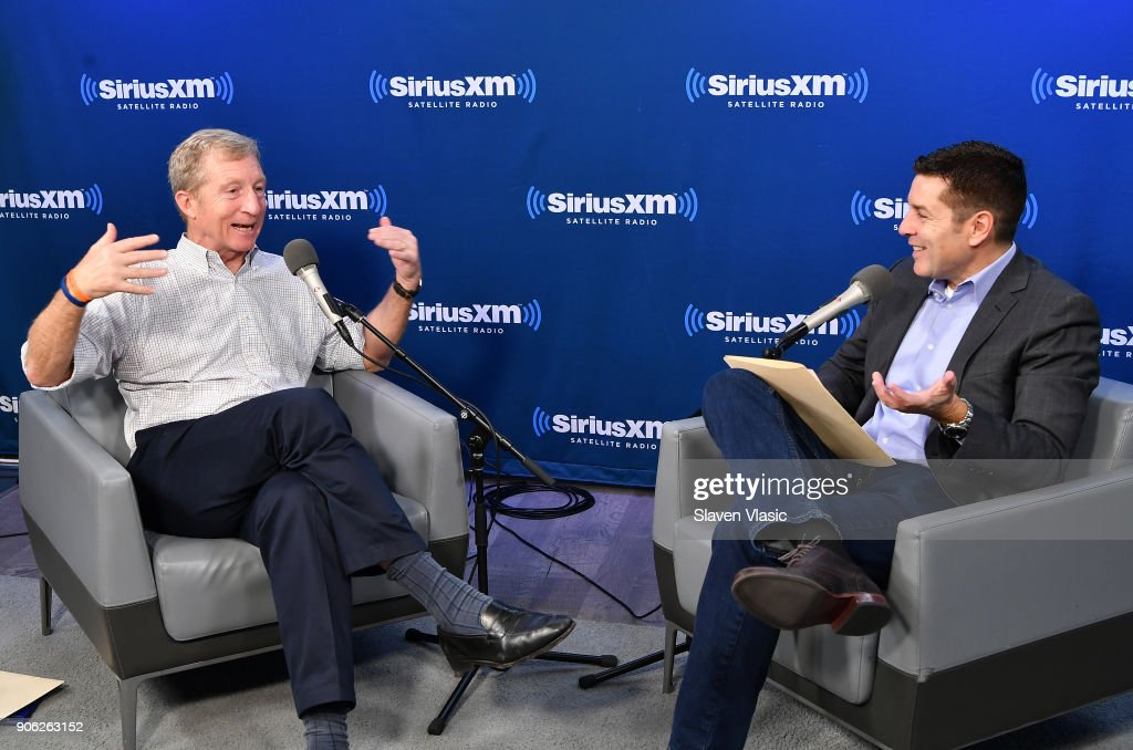 Tom Steyer Discusses His Political Future At SiriusXM's New York City Studios