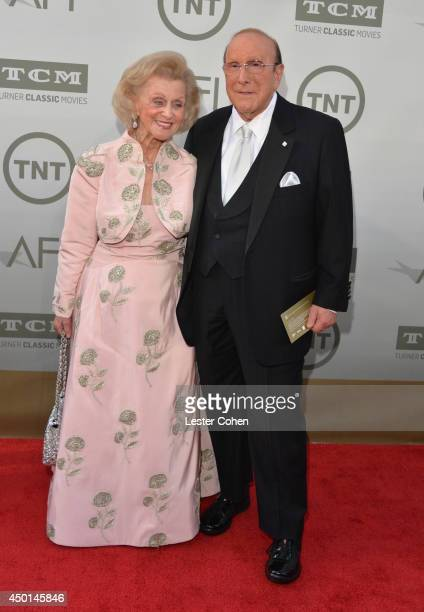 Philanthropist Barbara Davis and Chief Creative Officer at Sony Music Entertainment Clive Davis attend the 2014 AFI Life Achievement Award A Tribute...