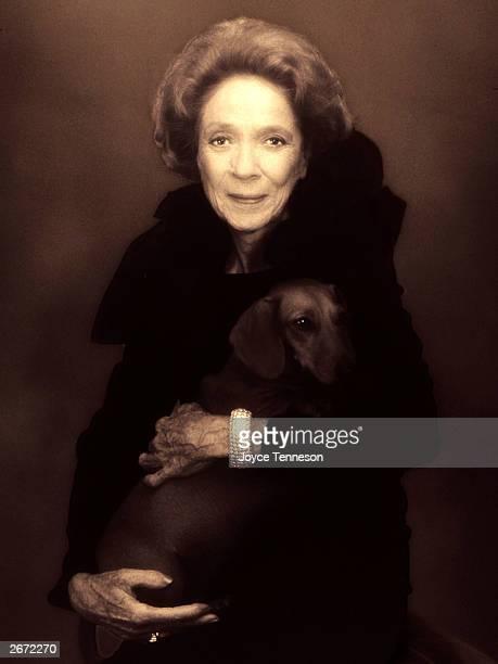 Philanthropist Brooke Astor poses at Joyce Tenneson's photography studio May 22 2001 in New York City