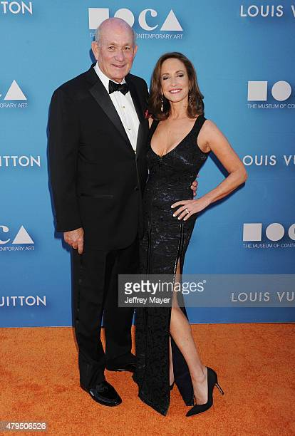 Philanthropist Bruce Karatz and wife MOCA Gala chair cancer activist Lilly Tartikoff arrive at the 2015 MOCA Gala presented by Louis Vuitton at The...