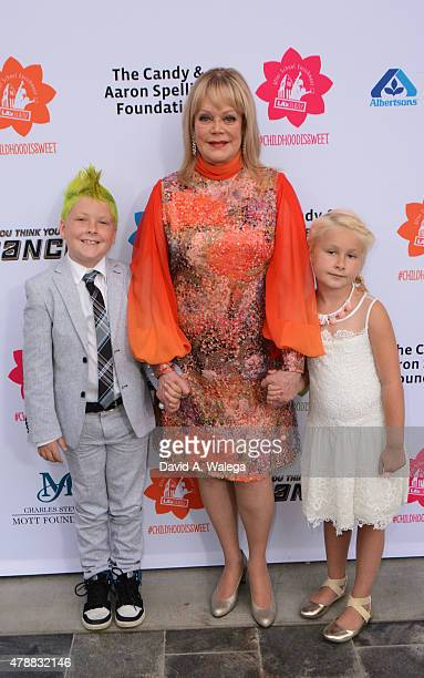 Philanthropist Candy Spelling with her grandchildren attend the LA's BEST Annual Family Dinner 2015 at Skirball Cultural Center on June 27 2015 in...