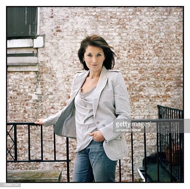 Philanthropist Cecilia Attias is photographed at home for Tatler Magazine on March 24 2010 in New York City